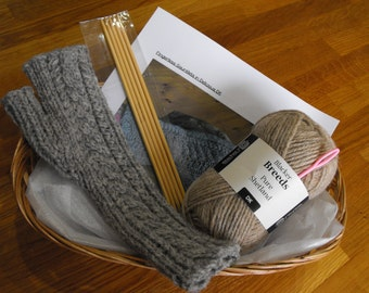 What can you do with a ball of wool? Extra Special fingerless gauntlets - knitting kit