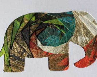 Handmade Irish Folding Elephant card - Made in Cambodia