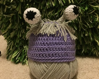 Crochet boo monster inc costume beanie