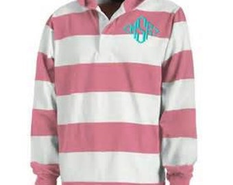 Hooded Monogrammed Rugby Shirt