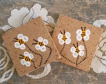 Bumble Bee Stone Coasters