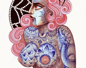 Ramon Maiden and Inma Tattoo Artist limited signed and numbered collaboration prints.