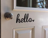 Mickey Mouse Door Hello Decal / Disney Decal