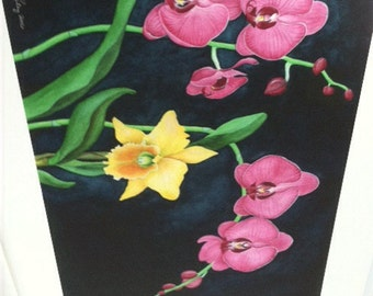 Orchid, number 3.  Giclee print of watercolor painting by Mary Watson Riley