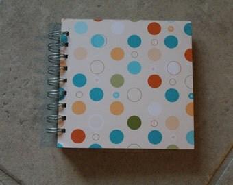 5.25 X 5.25 , Birthday spiral bound joural or scrapbook