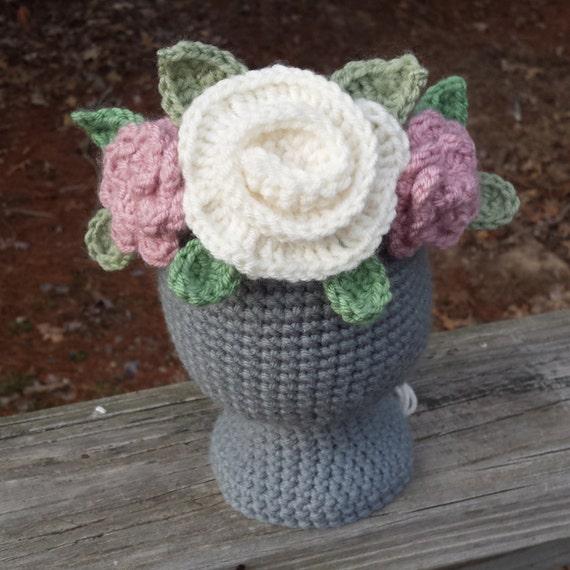 Crochet Flower Girl Crown Tutorial : Crochet Flower Crown Crochet Crown Tiara Flower by thetinyhaus