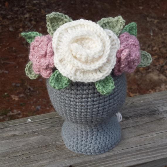 Crochet Flower Crown Crochet Crown Tiara Flower by thetinyhaus