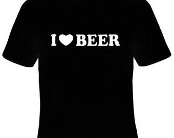 I Love Beer T-Shirt Women's Sizes