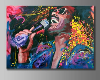Stevie Wonder Original Painting 155 X 110cm 61x 43