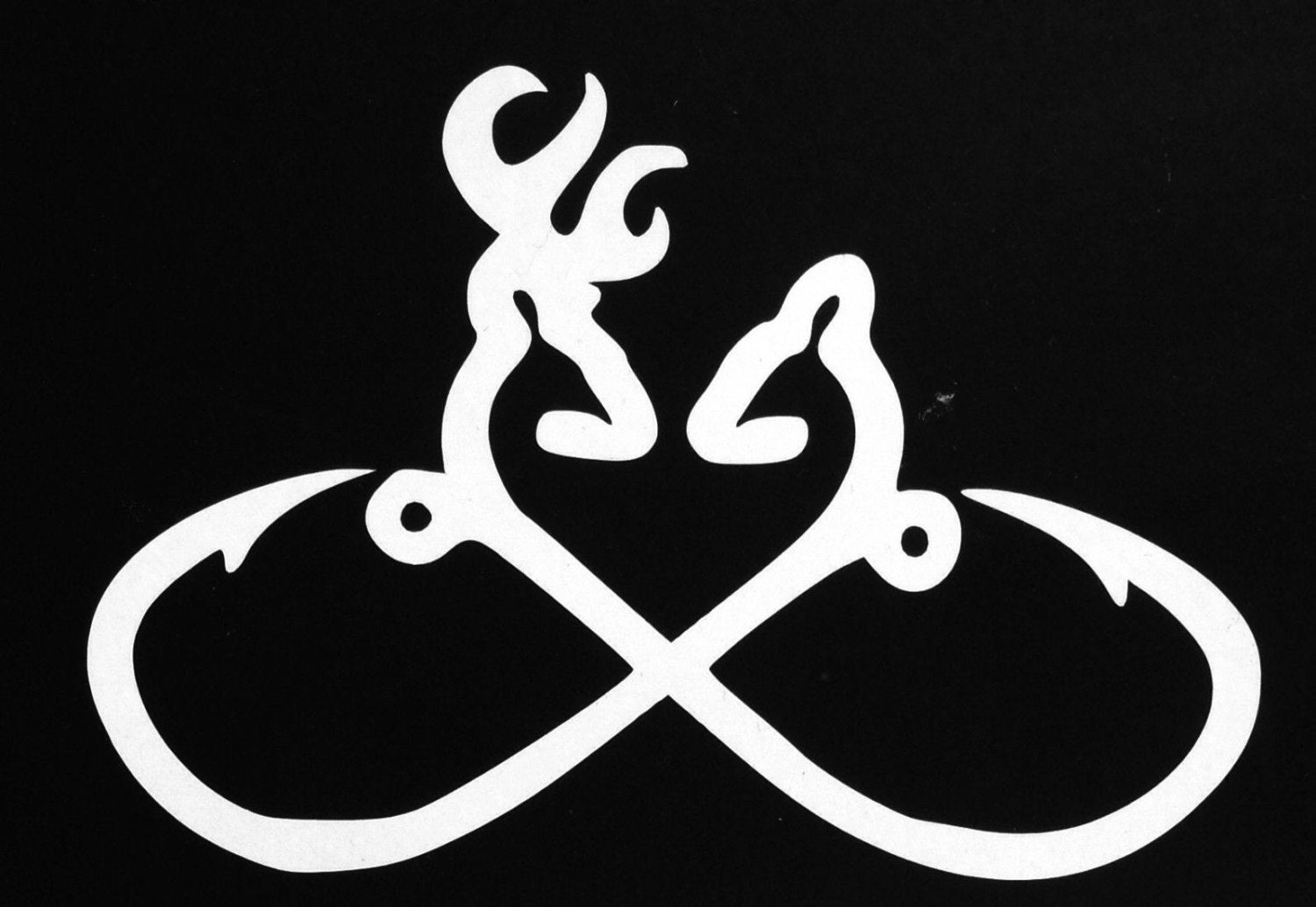 Hook Infinity Browning Heart Truck Car SUV Decal - Browning vinyl decals