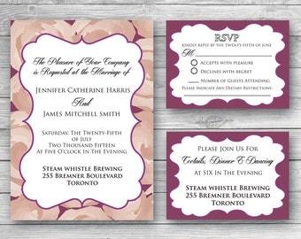 Emily Wedding Invitation Set - Digital Download