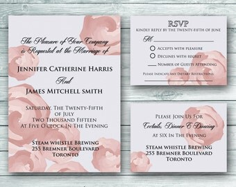 Amelia Wedding Invitation Set - Digital Download