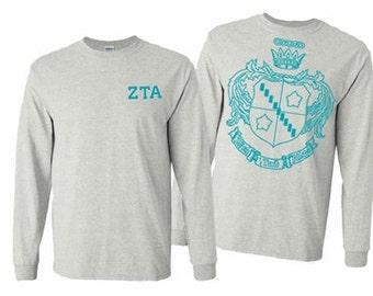 Zeta Tau Alpha World Famous Crest Long Sleeve T-Shirt