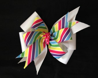 Rainbow Boutique Hairbow