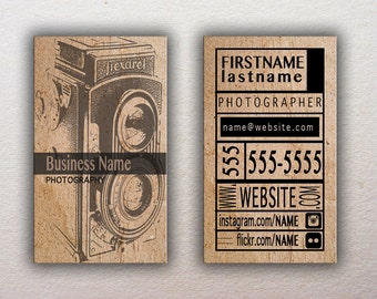 Photography Custom Business Card Template