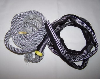 Silver and Silver/Black Cording