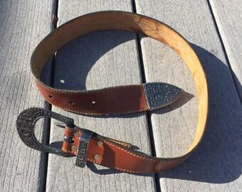 Flower Leather Belt