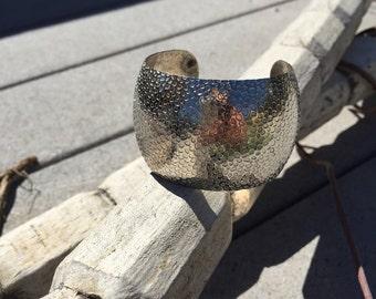Stamped Metal Cuff Bracelet