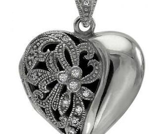Heart Shape Vintage Diamond Locket