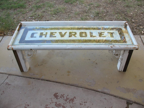 Items similar to 1957 chevy pick up truck tailgate coffee table on Etsy - Items Similar To 1957 Chevy Pick Up Truck Tailgate Coffee Table On