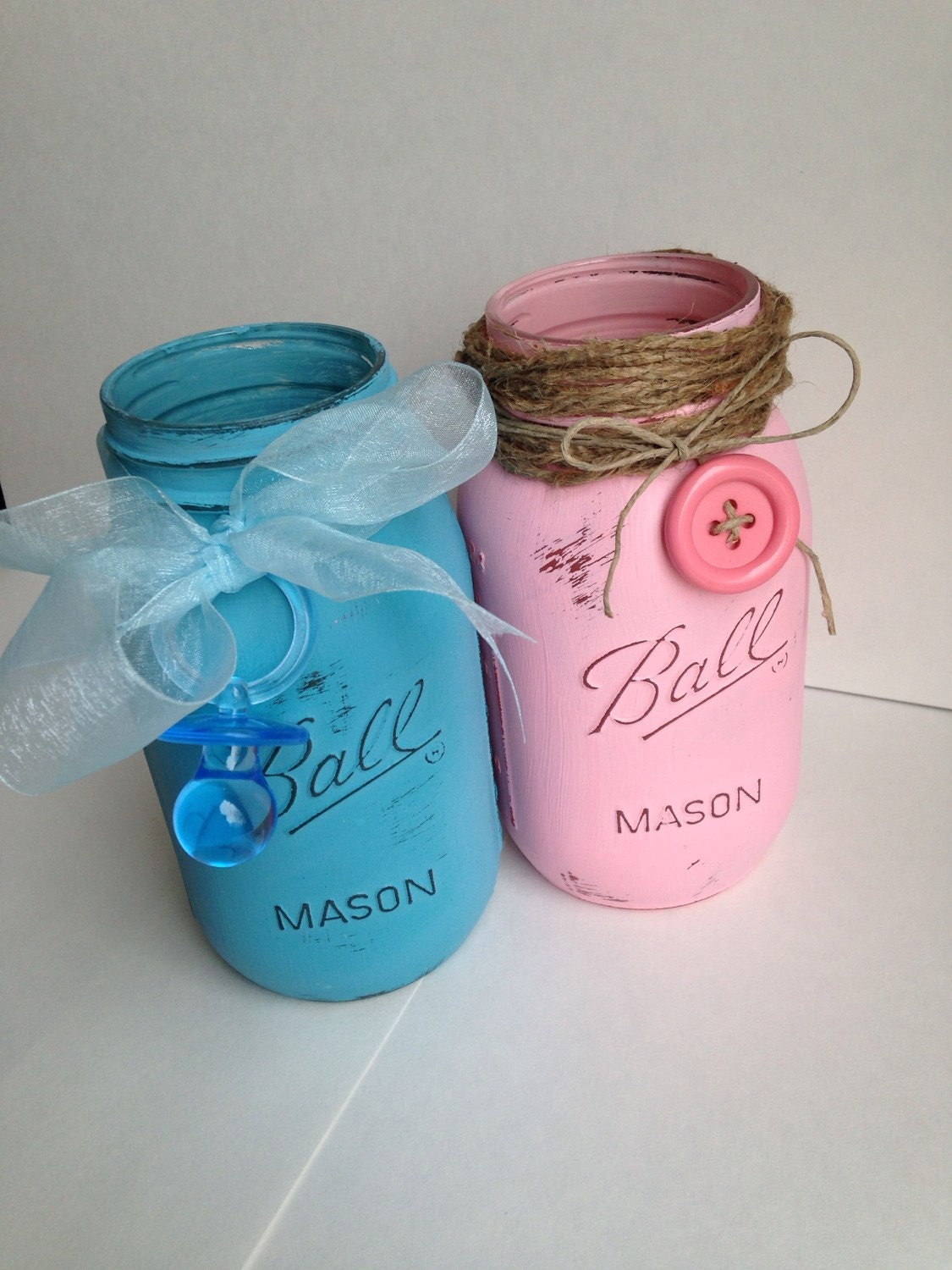 baby shower mason jar centerpiece baby by jerseycountrygirls
