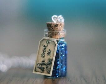 Alice In Wonderland Inspired 'Drink Me' Necklace