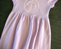 Girls monogram dress, girls summer dress