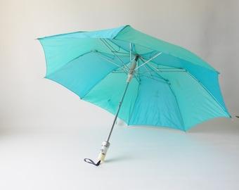Retro Aqua Umbrella