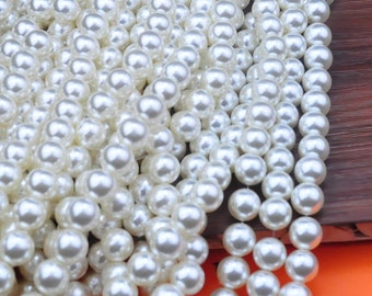 100pcs Wholesale Pearl Bead--White Plastic Pearl,12mm Round Bead,Bead Supplies For Necklace