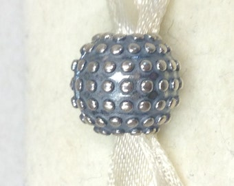 Authentic Pandora Silver Studded Charm #791012OX