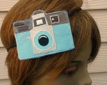 Holga Camera Hair Clip/ Headband - Embroidered - Photography