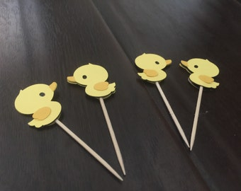 Yellow Duck cupcakes toppers
