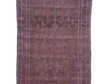 Dark Chocolate 4×7 Vintage Tribal Rug 2626