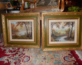 PAIR of ORIGINAL OIL Paintings by Galhidy