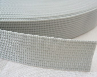 5 Yards, 1 inch (2.5 cm.), Polypropylene Webbing, Slate Gray, Key Fobs, Bag Straps, Purses Straps, Belts, Tote Bag Handle.