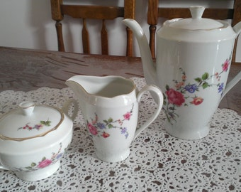 Porcealin teapot,  Vintage pottery, Cmielow porcelain from Poland