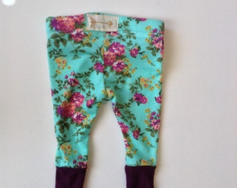 Girls floral print leggings