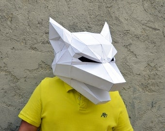 Make Your Own Wolf Mask. | wolf mask | forest animal | papercraft | Halloween mask | animal mask | Paper Animal