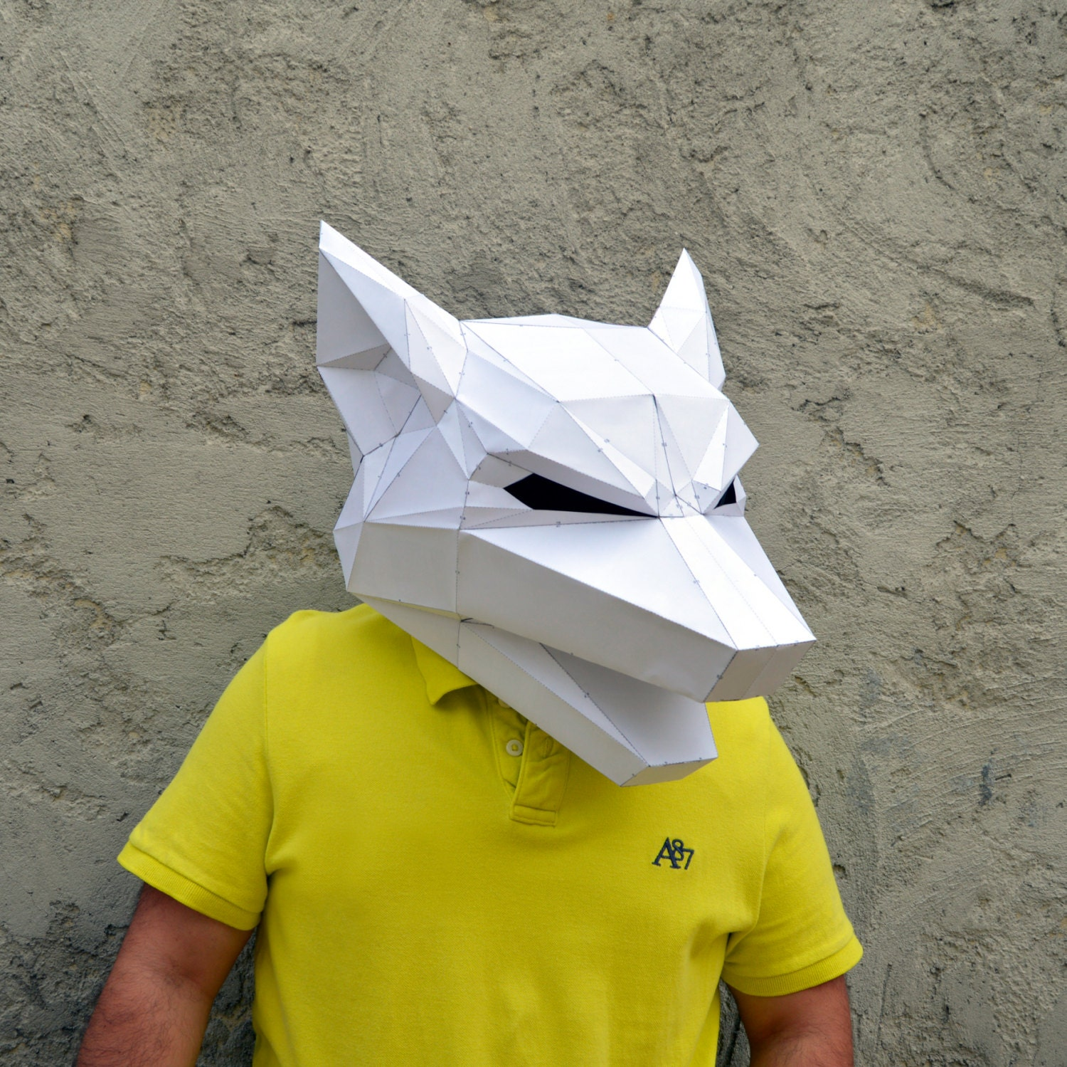 Make Your Own Wolf Mask  Wolf Mask  Forest Animal  Papercraft   Halloween