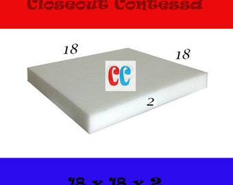 """18"""" x 18"""" x """"2 Square Upholstery Premium Discount Density Foam and Cushion"""