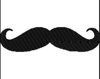 Mustache Embroidery Design