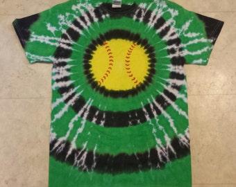 Tie Dye Softball custom shirt youth sizes