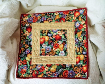 Retro Fruits Square Table Runner