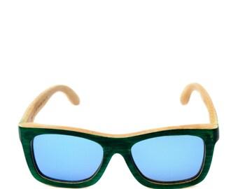 Booo HAWAII WAYFARER wooden polarized sunglasses