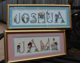 Baby Name Nursery Wall Art