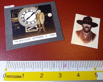 Back to the Future Clock Photo 1885 Mad Dog Buford Tannen 1/6 Diorama Hot Toys