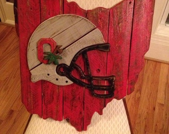 State of Ohio sign with helmet