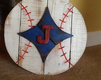 Wooden Baseball Sign