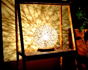Susan, Modern Table Lamp made of rope