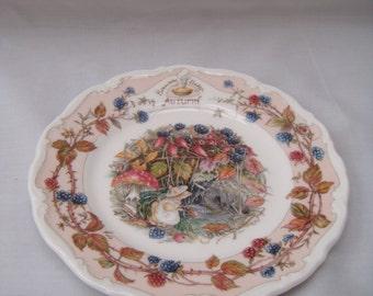 Brambly Hedge Autumn Tea Plate